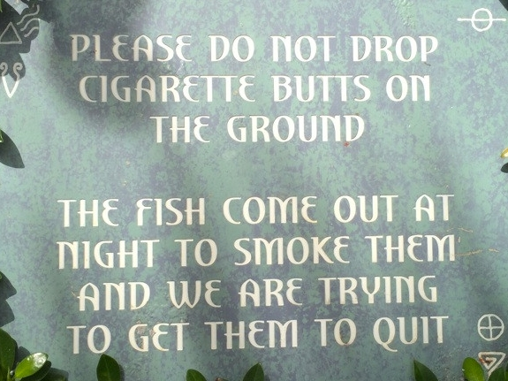 Atlantis Funny Sign Cigarette Butts